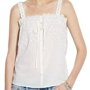 Made well Lace Eyelet Tank